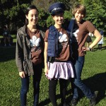 Lili, Alyssa, Chloe at the Police Visit